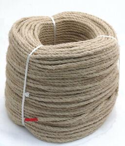 220m Hanfseil auf Trosse 6mm Hanf Seil Tau unbehandelt ungebleicht (0,33€/m)
