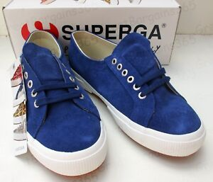 4b0a19e9b04b0 Details about Superga 2750 SUEU Suede Trainer Shoes Plimsoll Tennis Blue  Adult UK 7 Eur 41 New