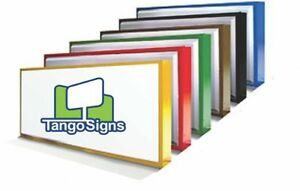 Details about NEW 3x8 CUSTOM Single-Sided lighted OUTDOOR business SIGN  retail commercial box