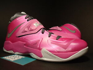 39a3d662f749 Nike ZOOM SOLDIER VII 7 LEBRON JAMES KAY YOW PINK FIRE GREY PLATINUM ...