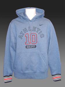 Hoodie Top Medium Dept Nueva Nike 886668811871 Athletic Vintage Ad Blue Cotton Quality qwqpTX8
