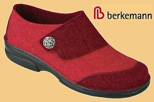 Details zu Hausschuhe Pantoffeln Berkemann Filz Schuhe Damen Wechselfußbett rot 3 8,5
