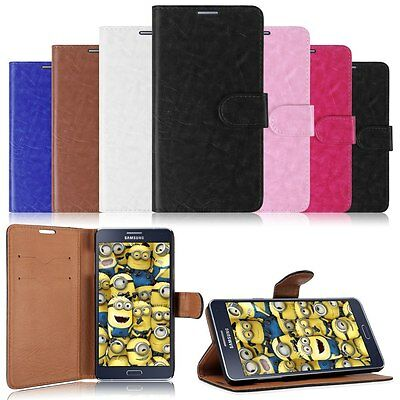 Hybrid PU Leather Card Pouch Flip Wallet Case Cover Stand fr Samsung Z1/J1/A3/A7