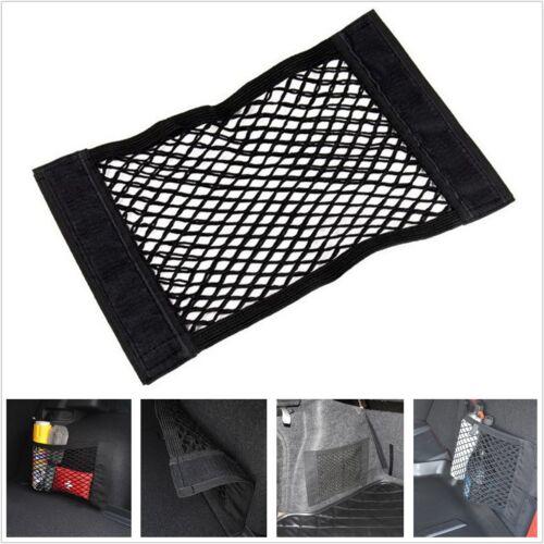 1PC Black Nylon Car Trunk Rear Cargo Organizer Storage Elastic Mesh Net Holder
