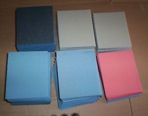 100 x  MIXED FINE GRADES WET AND DRY SANDING BLOCKS PADS FINE SUPER MICRO