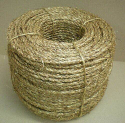 """3//8/"""" TREATED MANILA ROPE CUT TO LENGTH  $.10 per foot Crafts Work Farm Dock NEW"""