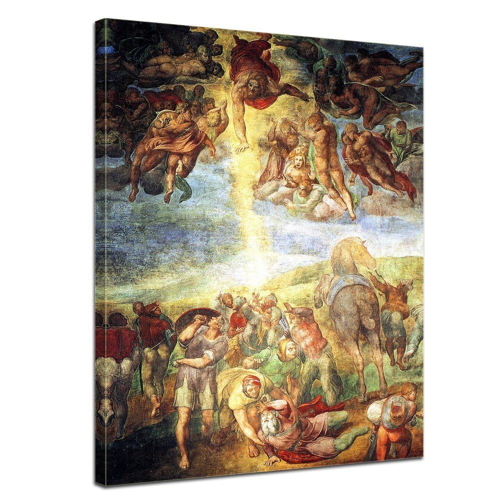 Stampa D'ARTE-Maestri-Michelangelo-La conversione di Saulo