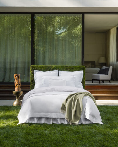 Sferra Giotto long-staple cotton sateen fitted sheet