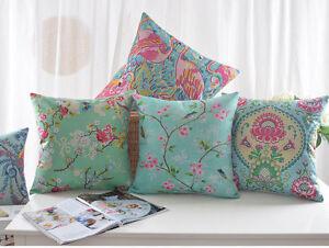 European-Pink-Flower-Crane-Bird-Plum-Blossom-Butterfly-Cushion-Cover-Pillow-Case