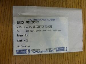 22-11-2003-Ticket-Rugby-Union-Rotherham-v-Leicester-Thanks-for-viewing-our