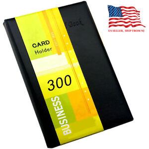 Black business card holder book pu leather 300 name cards organizer image is loading black business card holder book pu leather 300 colourmoves