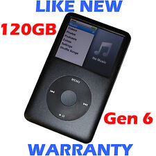 Apple IPOD CLASSIC - Black - 6th Gen (Slim) - 120GB - Refurbished + New HDD