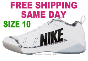 Nike Force Zoom Trout 4 Turf Baseball White Black Silver  120 Mens SIZE 10 NIB