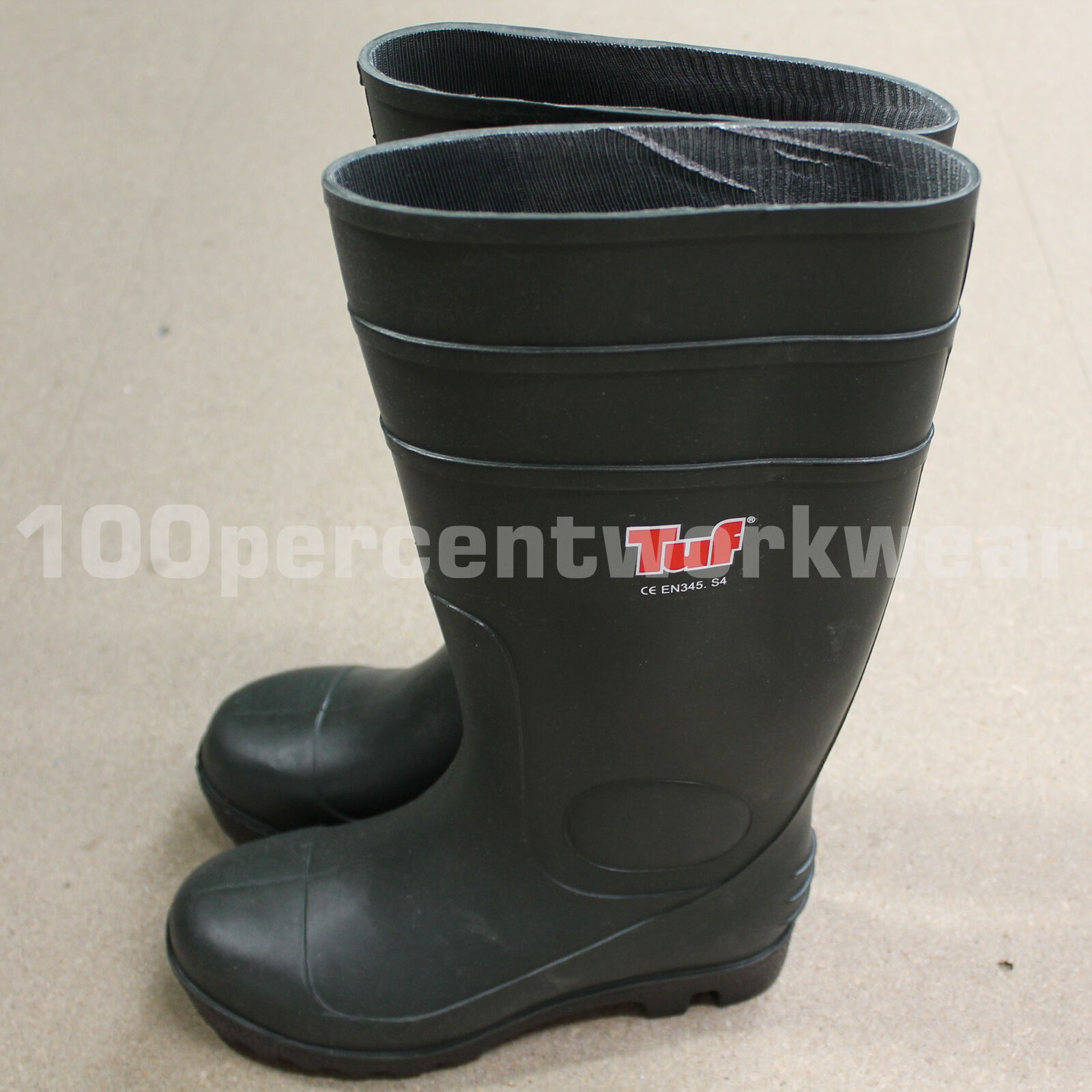 Size Euro 37 GREEN Wellington Boots Wellies Safety PVC Rubber Tuf EN345 S4