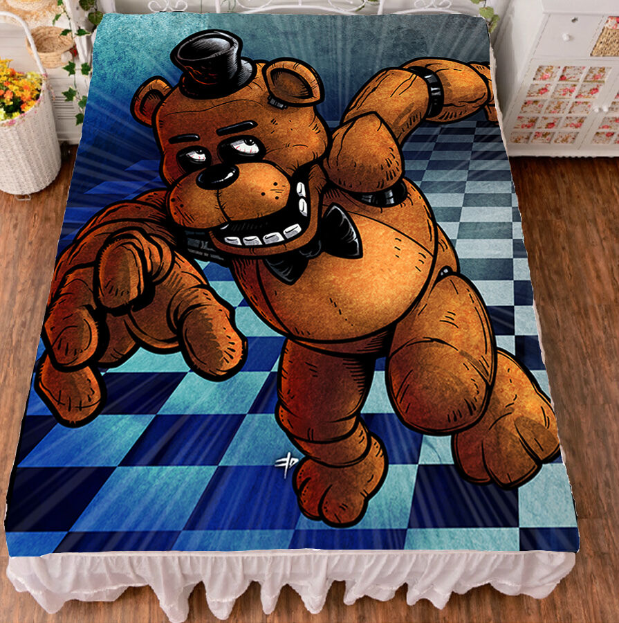 Anime Five Nights at Freddy's Cos Flat Bed Sheet Bedding Blanket Gift 79x59