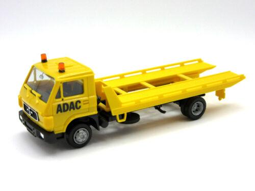 "HERPA BASIC 1:87//H0 LKW MAN G 90 Plateau-Abschleppfahrzeug /""ADAC/"" gelb #094191"