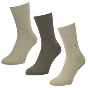 6-Paar-Herren-Socken-034-Sahara-in-Natuertoenen-mit-Softrand-Ubergroesse-47-50