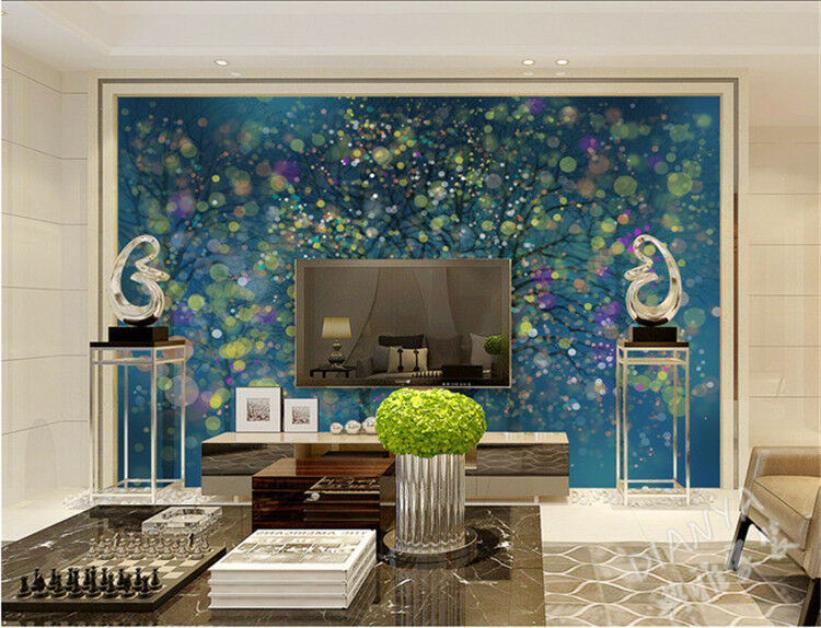 3D bluee Dream Trees 742 WallPaper Murals Wall Print Decal Wall Deco AJ WALLPAPER