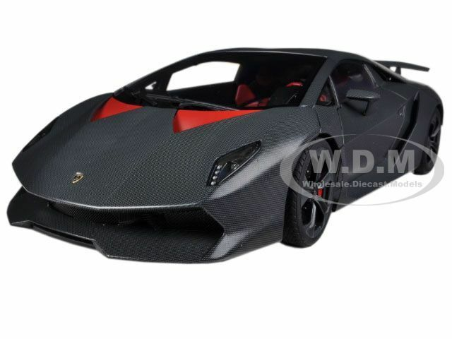 LAMBORGHINI SESTO ELEMENTO CARBON GREY 1 18 DIECAST MODEL CAR BY AUTOART 74671