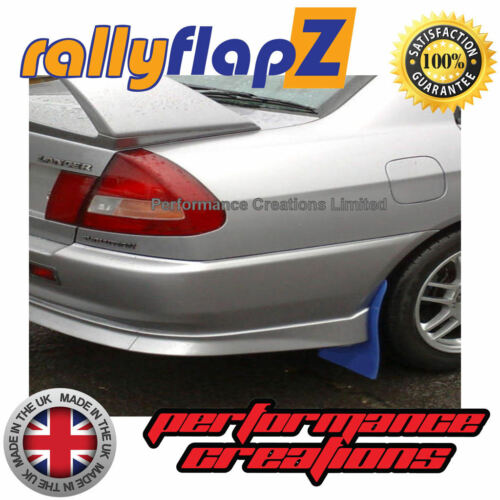 Rally Style Mudflaps to fit Mitsubishi Evolution 5//6 Mud Flaps x4 Blue 4mm PVC