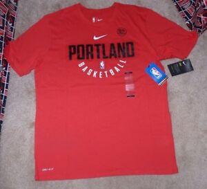 9b4f65c1854 NEW NBA Portland Trail Blazers Basketball T Shirt Men XL NIKE Dri ...