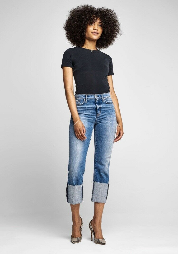 HUDSON ZOEEY High Rise Straight Crop Jean. Taille 27. REATIL  235.