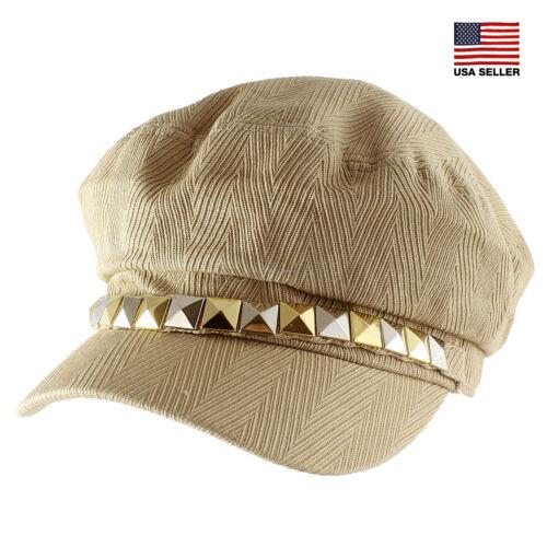 Morehats 100/% Cotton Square Stud Newsboy Cap Irish Hunting Gatsby Cabbie Hat