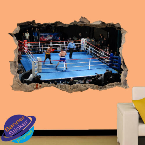 BOXING ARENA MATCH ACTION WALL ART 3D STICKER ROOM OFFICE DECOR DECAL MURAL ZQ1