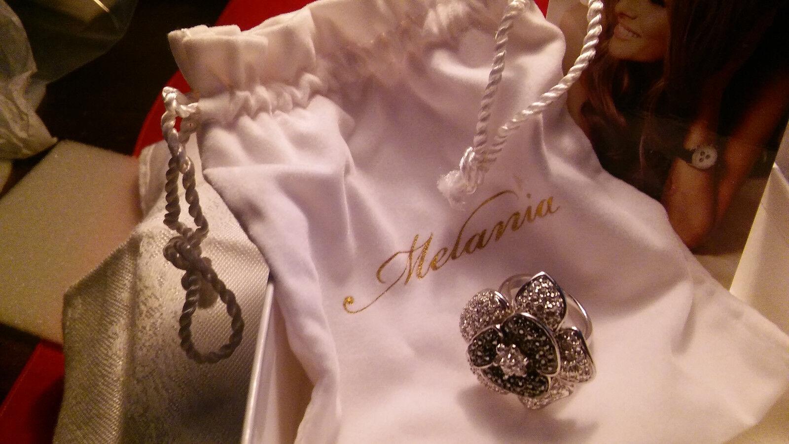 Melania Trump- Sim Diamond  Ring SIZE 7 PLUS FREE M Trump bracelet   NWT  -L53