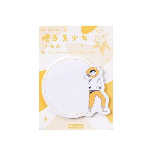 30 Sheets Orange Memo Pads Paper Sticky Notes Kawaii Scrapbooking Label