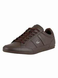 Lacoste-Men-039-s-Chaymon-BL-1-CMA-Leather-Trainers-Brown