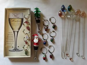 Wine-and-Cocktail-Accessories-21-pc-lot-Entertainment-Food-and-Drink-Christmas