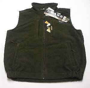 Drake Waterfowl 160 Medium Olive Green Fleece Layering Vest 13586