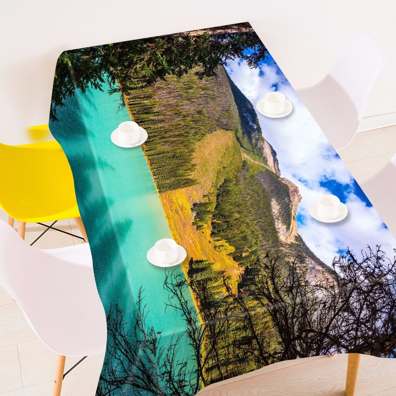 3D Mountain862 Tablecloth Table Cover Cloth Birthday Party Event AJ WALLPAPER AU