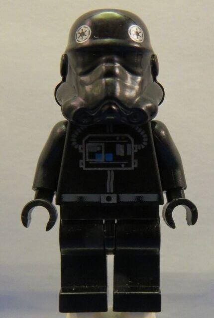 LEGO Genuine Star Wars Tie Interceptor Pilot Black Head Minifigure Minifig