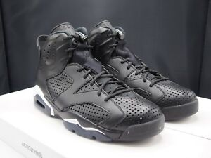 23b615b40b4a Image is loading Nike-Air-Jordan-VI-Retro-034-Black-Cat-
