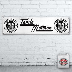 Tamla-Motown-Northern-Soul-Banner-heavy-duty-for-workshop-garage-motorbike