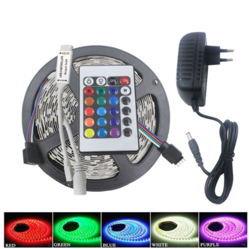 LED Strip Light RGB 3528 SMD Flexible Ribbon RGB Stripe 5M 10M 15M tape kit