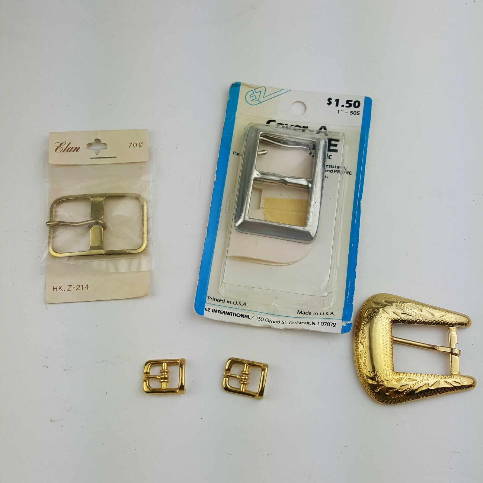 Buckle Lot Solid Nickel Silver EZ Cover A Buckle WIth Your Fabric Elan HK Z214
