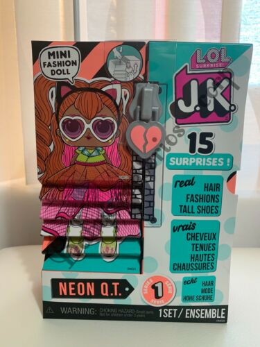 1 LOL Surprise JK Mini NEON Q.T Fashion Doll Real Hair Mini OMG IN HAND Stock