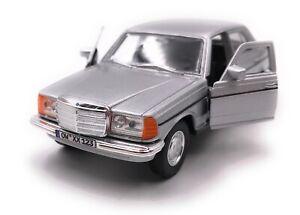 Mercedes-Benz-Classe-W123-Argento-Modellino-Auto-Con-Richiesta-Targa-Scala-1-3