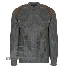 af170dc5c71010 item 3 100% BRITISH WOOL CHUNKY KNIT COUNTRY JUMPER SHOOTING SWEATER WASH  SUEDE PATCHES -100% BRITISH WOOL CHUNKY KNIT COUNTRY JUMPER SHOOTING SWEATER  WASH ...