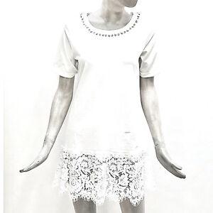 Dress Lunga Cotone Maglia T Bianco Mytwin shirt Twinset Mini Donna Maglietta Xnx0awOgwq
