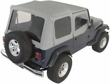 Rampage Complete Soft Top With Frame Fits 87 95 Jeep Wrangler Yj 68111 Gray Denim Fits 1994 Jeep Wrangler