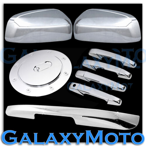 07-14 Suburban Chrome TOP Mirror+4 Door Handle no KH+Lower Tailgate+Gas Cover