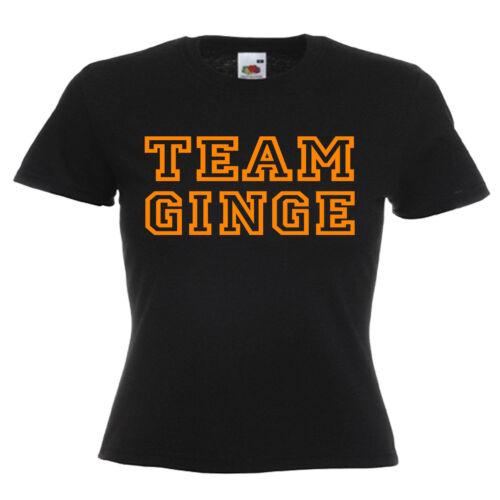 Équipe GINGER GINGEMBRE Cheveux Femme Lady Fit T Shirt
