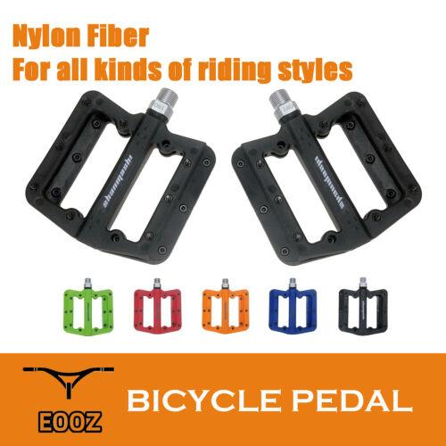 Ultralight Sealed Bearings Flat Pedal MTB BMX Road Nylon Fiber Bike Pedals