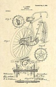 Official-Schwinn-Bicycle-US-Patent-Art-Print-Vintage-1899-Antique-Original-5