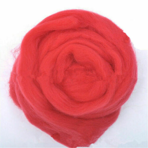 Fibra superior de lana Genuino 10g Multicolor Roving Para Aguja Fieltro materiales lotes