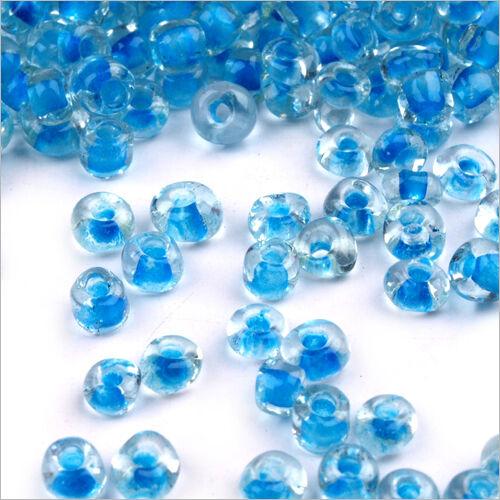 aufsatz Blau 20g Glasperlen Transparent 2mm 12//0